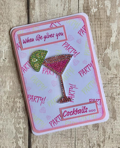 Craft Buddy Crystal Art Stamp Sets - Cocktail Sparkle Stamp Set - CCST12