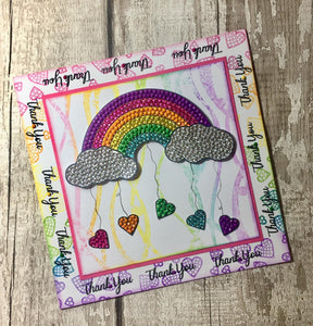 Craft Buddy Crystal Art Stamp Sets - Over The Rainbow - CCST11