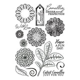 Forever Flowerz - Cute Camellias A5 Clear Stamp Set