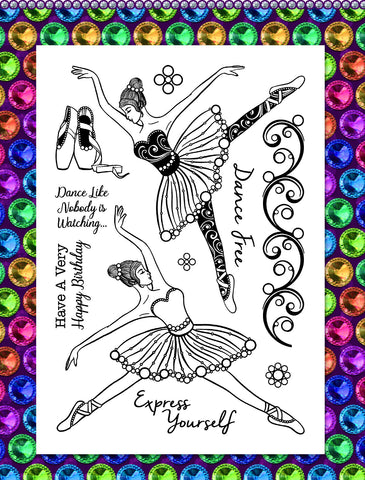 Gem It! Stamps - Beautiful Ballerina