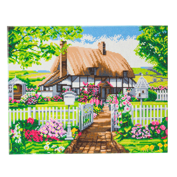 CAK-A94: Rose Cottage Framed Crystal Art Kit, 40 x 50cm