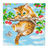 "CAK-A73: ""Cherry Kitten"" 30 x 30cm (Medium)"