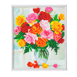 "CAM-24: ""Flowers"" Crystal Art Picture Frame Kit, 21 x 25cm"