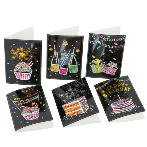 "Set of 6 ""Celebrations"" Crystal Card Kits, 10 x 15cm each"