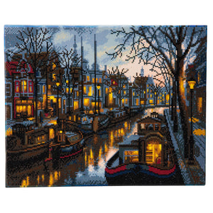 "CAK-A42: ""Canal Life"" Framed Crystal Art Kit, 40 x 50cm"