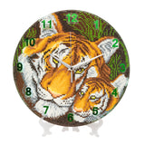 "CLK-S3: ""Mother Tiger & Cub"" Crystal Clock Kit - 30cm"