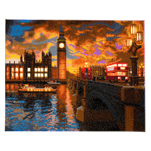 "CAK-XLED10 ""London Sunset"" Framed LED Crystal Art Kit - 40 x 50"