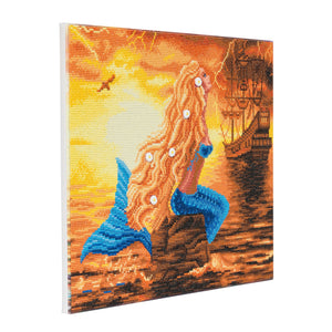 "CAK-A59: ""Mermaid Dreams"" Framed Crystal Art Kit, 40 x 50cm"