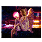 "CAK-XLED8 ""Angel Dusk"" Framed LED Crystal Art Kit - 40 x 50"