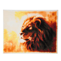 "CAK-A45: ""Proud Lion"" Framed Crystal Art Kit, 40 x 50cm"