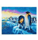 "CAK-A60: ""Penguins of the Arctic"" Framed Crystal Art Kit, 40 x 50cm"