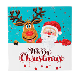 "CCK-XM3: ""Santa & Reindeer"" Crystal Card Kit"