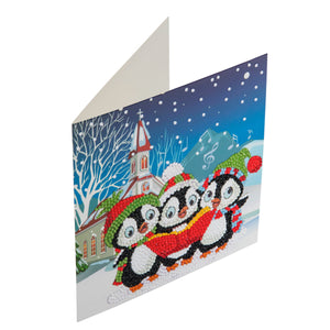 "CCK-XM6: ""Penguin Christmas Carols"" Crystal Card Kit"