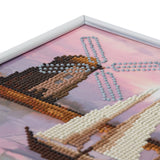 "CAM-25: ""Boat Windmill"" Crystal Art Picture Frame Kit, 21 x 25cm"