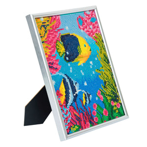 "CAM-17: ""Tropical Fish"" Crystal Art Picture Frame Kit, 21 x 25cm"