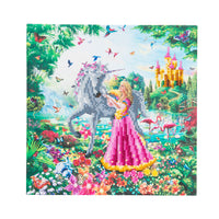 "CAK-AC1: ""The Princess & The Unicorn "" Framed Crystal Art Kit 30 x 30cm (Medium)"