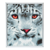 "CAM-15: ""Snow Leopard"" Crystal Art Picture Frame Kit, 21 x 25cm"