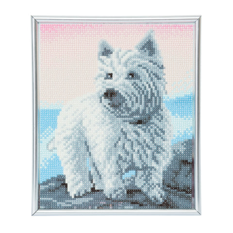"CAM-13: ""Westie"" Crystal Art Picture Frame Kit, 21 x 25cm"