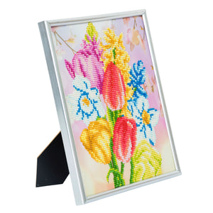 "CAM-9: ""Beautiful Bouquet"" Crystal Art Picture Frame Kit, 21 x 25cm"