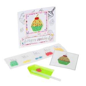 "Cupcake -  ""Christmas"" Crystal Art Motifs – (With Tools)"