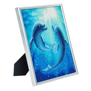 "CAM-12: ""Dolphin Dance"" Crystal Art Picture Frame Kit, 21 x 25cm"