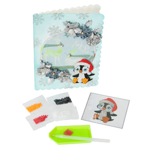 "Santa Penguin -  ""Christmas"" Crystal Art Motifs – (With Tools)"