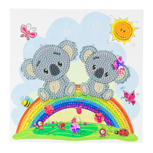 "CCK-A47 ""Koala Bear Rainbow"" Crystal Art Card Kit"