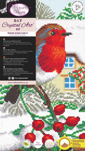 CAK-A114TT: Robin Friends Part 2, 40x22cm Triptych Crystal Art Kit