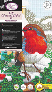 CAK-A115TT: Robin Friends Part 3, 40x22cm Triptych Crystal Art Kit