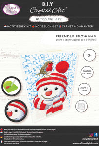 "CANJ-6 ""Friendly Snowman"", Crystal Art Notebook"