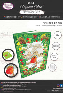 "CANJ-7 ""Robin Foliage"", Crystal Art Notebook"