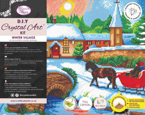 "CAK-A111L: ""Winter Village"", 40x50cm Crystal Art Kit"