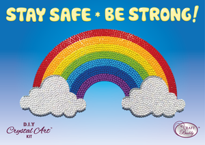 Crystal Art Rainbow Sticker - Support The Care Workers Charity!
