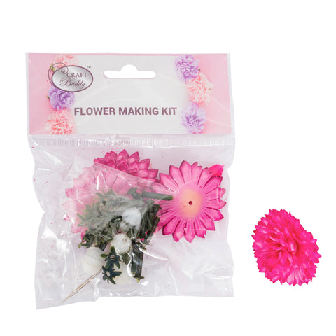 Flower Making Kit - Chrysanthemum - Fushcia - BB02FS