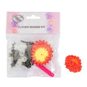 Flower Making Kit - Chrysanthemum - Yellow Orange - BB02YO