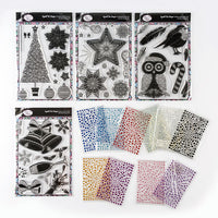 A5 Crystal Art Festive Stamp and Gem Collection