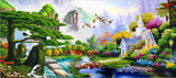 "CAK-A16: ""Nature's Song' - 40 x 90cm - FINISHED SAMPLE"