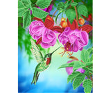 "CAK-A100L: ""Hummingbird"" Framed Crystal Art Kit, 40 x 50cm"