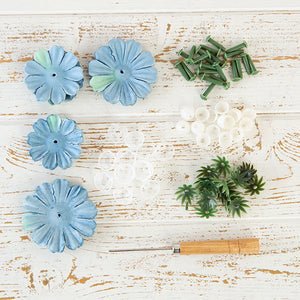 Flower Making Kit - Begonias - Aegean Blue