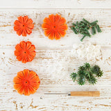 Flower Making Kit - Begonias - Tangerine