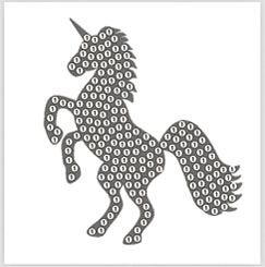 "Silver Unicorn - ""Spring"" Crystal Art Motifs (With tools)"