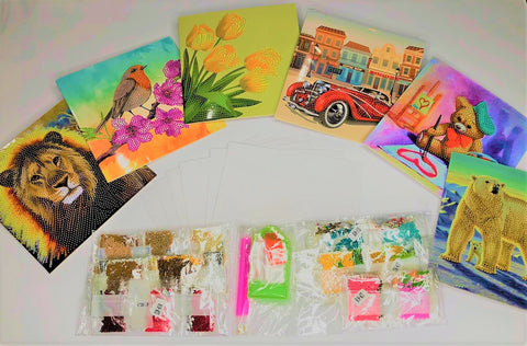 Set of  6 'Everyday' Crystal Cards Bundle 1