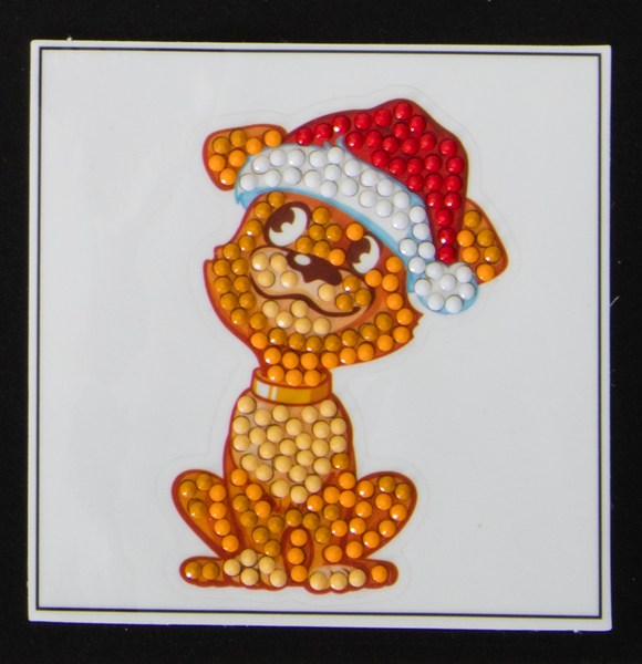 "Santa Puppy -  ""Christmas"" Crystal Art Motifs – (With Tools)"