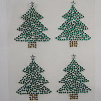 4 x 50mm Christmas Tree Gems (XM02)