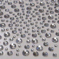 325 x 2,3,4,5mm Clear Self Adhesive Gems
