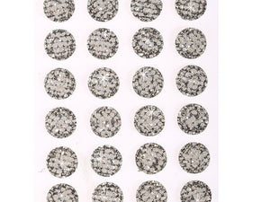 24 x 16mm Clear Bubble Self Adhesive Gems
