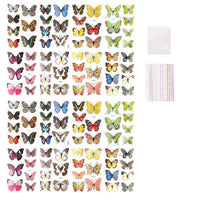 16 Pack 3D Butterflies & 2 Pack Assorted 3mm Adhesive Gems