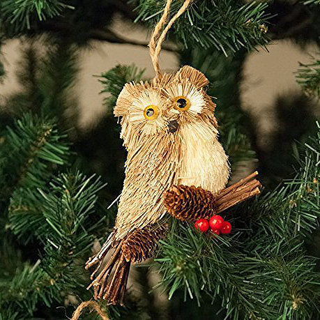 Large Owl with Acorns and Berries, Xmas Tree