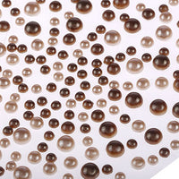 325 x 2,3,4,5mm Brown/Cream Pearl Gems