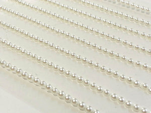 5mm Pearl Strips Self Adhesive Gems